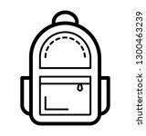 luggage  backpack icon | Shutterstock .eps vector #1300463239