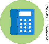 vector telephone icon  | Shutterstock .eps vector #1300464520