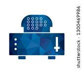 vector slice toaster icon  | Shutterstock .eps vector #1300469986