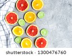design with blood orange and... | Shutterstock . vector #1300476760