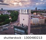 riga   june  20  aerial view of ... | Shutterstock . vector #1300480213