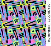 seamless brushpen textile... | Shutterstock . vector #1300487680