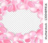 falling pink rose petals... | Shutterstock .eps vector #1300489816