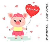 congratulations on valentine s... | Shutterstock . vector #1300490986