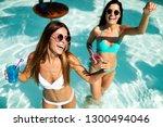 group of happy friends having... | Shutterstock . vector #1300494046