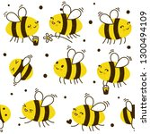 seamless pattern with cute... | Shutterstock .eps vector #1300494109