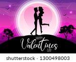 happy valentine's day ... | Shutterstock .eps vector #1300498003