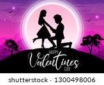 happy valentine's day ... | Shutterstock .eps vector #1300498006