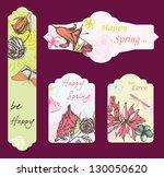 spring cards | Shutterstock .eps vector #130050620