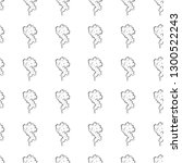 hand drawn doodle seamless... | Shutterstock .eps vector #1300522243