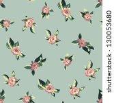 vintage seamless floral pattern   Shutterstock .eps vector #130053680