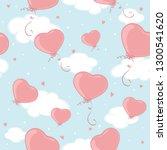 seamless background. valentine...   Shutterstock .eps vector #1300541620