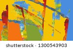 colorful abstract painting... | Shutterstock . vector #1300543903