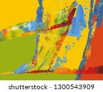 colorful abstract painting... | Shutterstock . vector #1300543909