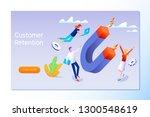 customer retention  customer... | Shutterstock .eps vector #1300548619