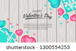 3d realistic hearth shape for... | Shutterstock .eps vector #1300554253