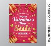 happy valentine's day sale... | Shutterstock .eps vector #1300555390