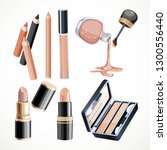 set of cosmetics objects in... | Shutterstock .eps vector #1300556440