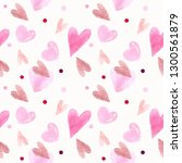 seamless pattern with hearts.... | Shutterstock . vector #1300561879