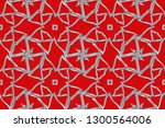 seamless pattern with symmetric ... | Shutterstock . vector #1300564006