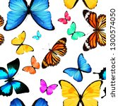 seamless pattern of colored... | Shutterstock . vector #1300574050