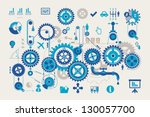 vector gear info graphic... | Shutterstock .eps vector #130057700