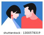 romantic concept. couple in...   Shutterstock .eps vector #1300578319