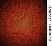 red mandala ornament background.... | Shutterstock .eps vector #130058354