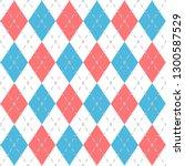argyle check pattern image. | Shutterstock .eps vector #1300587529
