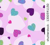 hearts vector background.... | Shutterstock .eps vector #1300591150