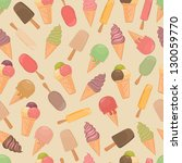 seamless pattern with ice cream.   Shutterstock .eps vector #130059770