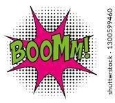 boom comic book cartoon... | Shutterstock .eps vector #1300599460