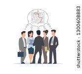 group of people  businessmen... | Shutterstock .eps vector #1300608883