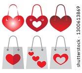 vector image. i like shopping ... | Shutterstock .eps vector #1300613869