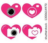 vector illustration. hearts and ... | Shutterstock .eps vector #1300614970