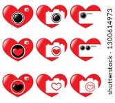 vector illustration. hearts and ... | Shutterstock .eps vector #1300614973
