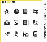 trade icons set with scores ...