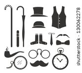 gentlemens vintage stuff design ... | Shutterstock .eps vector #130062278