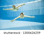 underwater view of a young... | Shutterstock . vector #1300626259