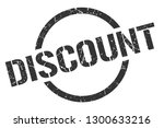 discount black round stamp | Shutterstock .eps vector #1300633216