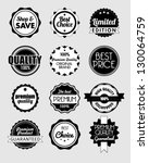 set of vector stickers | Shutterstock .eps vector #130064759