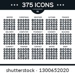 pack of collection icons ...   Shutterstock .eps vector #1300652020
