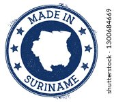 made in suriname stamp. grunge... | Shutterstock .eps vector #1300684669