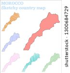 morocco sketchy country. pretty ... | Shutterstock .eps vector #1300684729