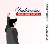 indonesia president election...   Shutterstock .eps vector #1300691509