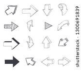 arrows. sketch drawing. vector...   Shutterstock .eps vector #1300691839