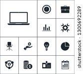 vector set of business icons.... | Shutterstock .eps vector #1300692289