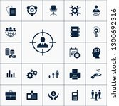 vector set of business icons.... | Shutterstock .eps vector #1300692316