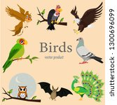 the group of birds is on the... | Shutterstock .eps vector #1300696099