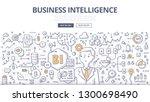 business intelligence doodle... | Shutterstock .eps vector #1300698490